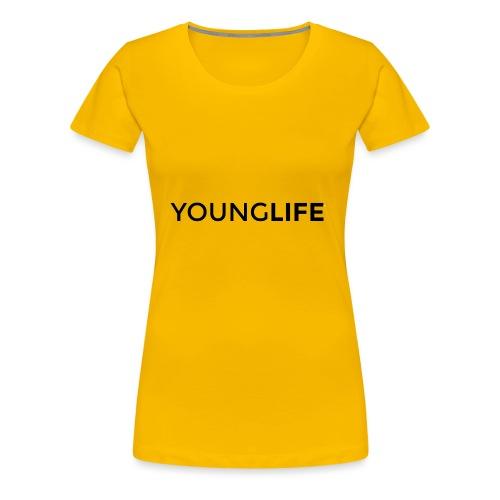 Young Life logo (text)(black) - Women's Premium T-Shirt
