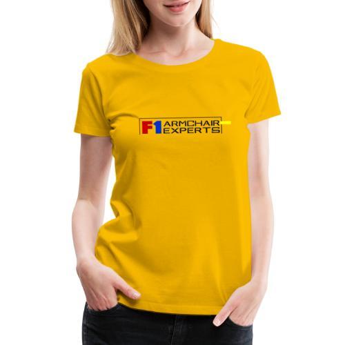 F1 Armchair Experts Official Logo BK - Women's Premium T-Shirt