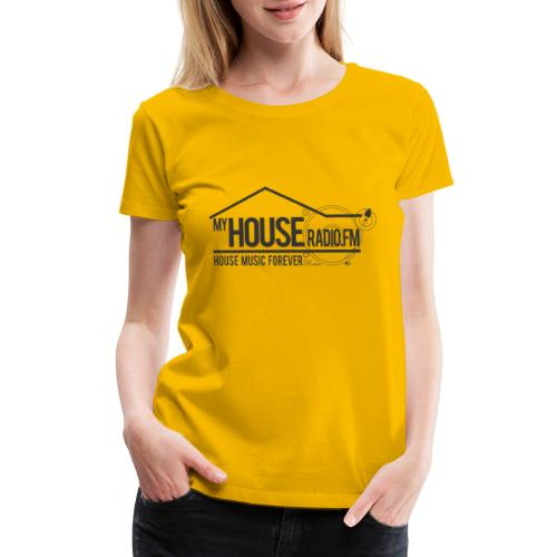 My House Radio Black Logo - Women's Premium T-Shirt
