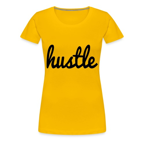 hustle vector - Women's Premium T-Shirt