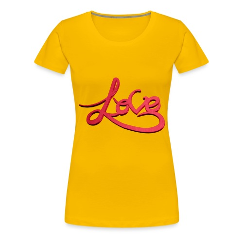 Love Transparent Background - Women's Premium T-Shirt