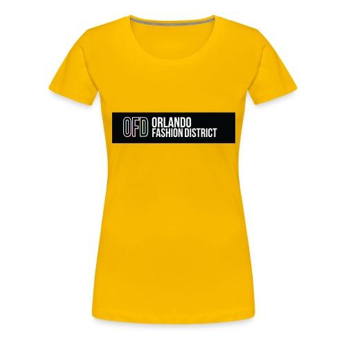 OFD Long Logo White Text - Women's Premium T-Shirt