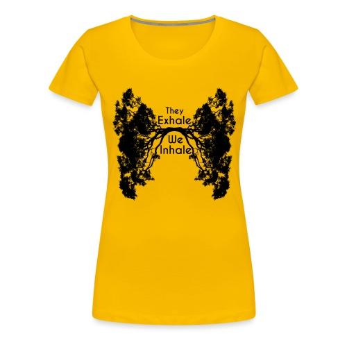 InhaleExhaleBlack - Women's Premium T-Shirt