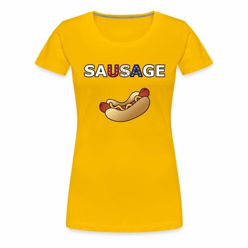 Patriotic BBQ Sausage - Women's Premium T-Shirt