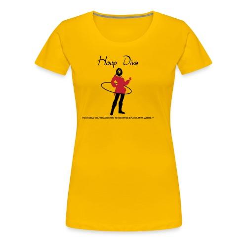 Hoop Diva - Red - Women's Premium T-Shirt