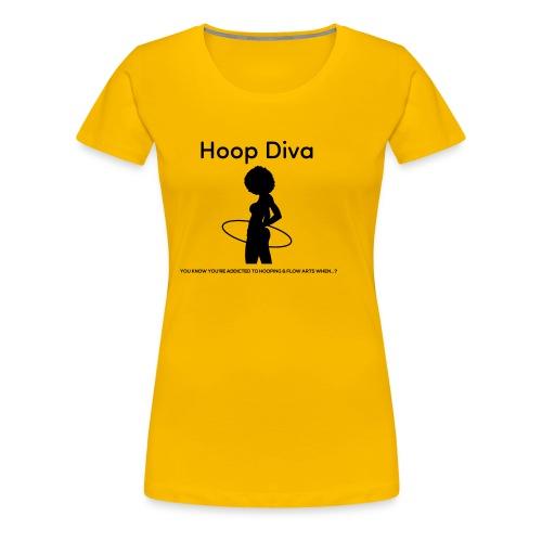 Hoop Diva Black Silhouette - Women's Premium T-Shirt