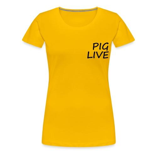 PIG LIVE NEW MERCH DESIGN - Women's Premium T-Shirt