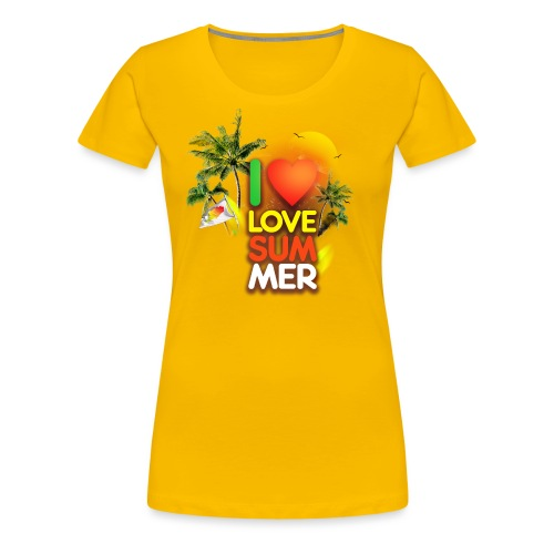 I love summer - Women's Premium T-Shirt