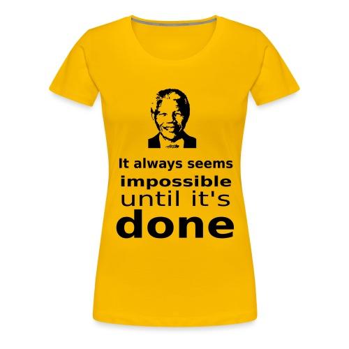Nelson Mandela Quotes - Women's Premium T-Shirt