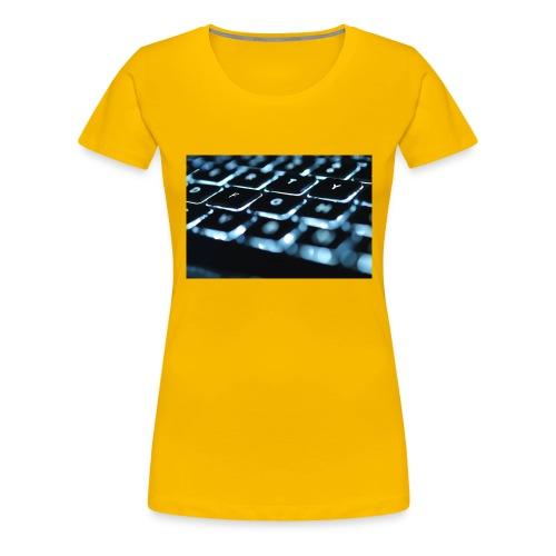 Glowing Keyboard - Women's Premium T-Shirt