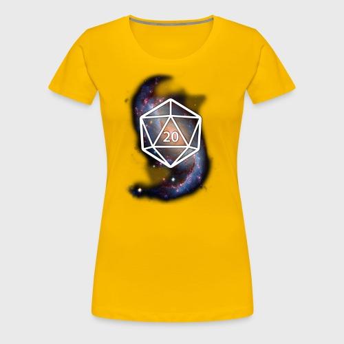 Astronomy Geek d20 Galaxy - Women's Premium T-Shirt
