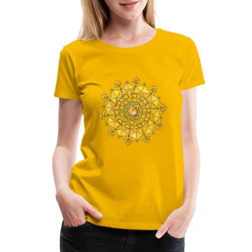 Zentangle Mandala Navel Manipura Chakra - Women's Premium T-Shirt