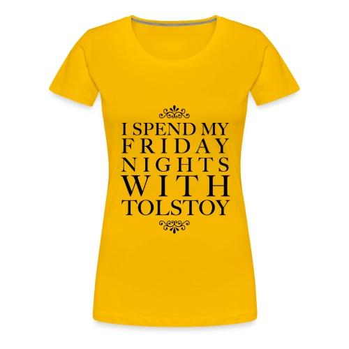 TOLSTOY png - Women's Premium T-Shirt