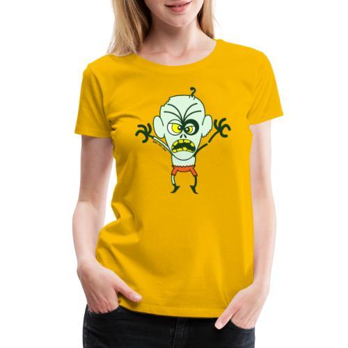Scary Halloween Zombie - Women's Premium T-Shirt