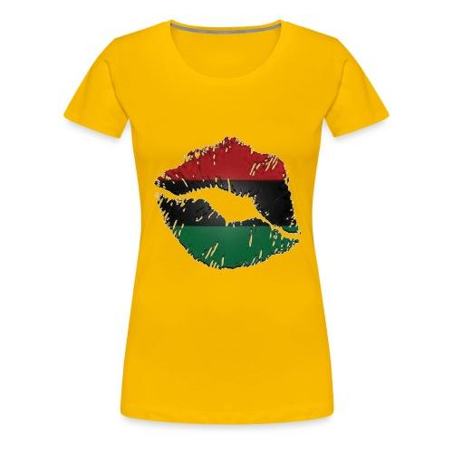 Red, black, green lips - Women's Premium T-Shirt