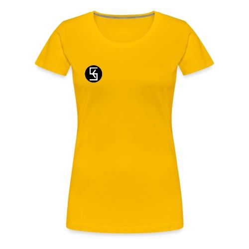 BlackWhite Soft kore Logo - Women's Premium T-Shirt