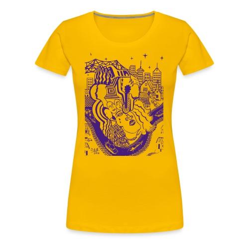 Purple Louisiana River - Women's Premium T-Shirt