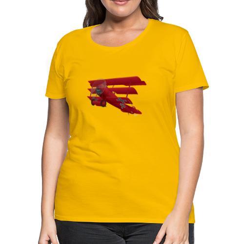 DR-1 Red Baron Triplane WWI Warbird - Women's Premium T-Shirt