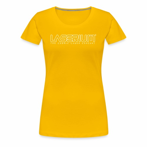 Laserium Logo OL White Tag - Women's Premium T-Shirt