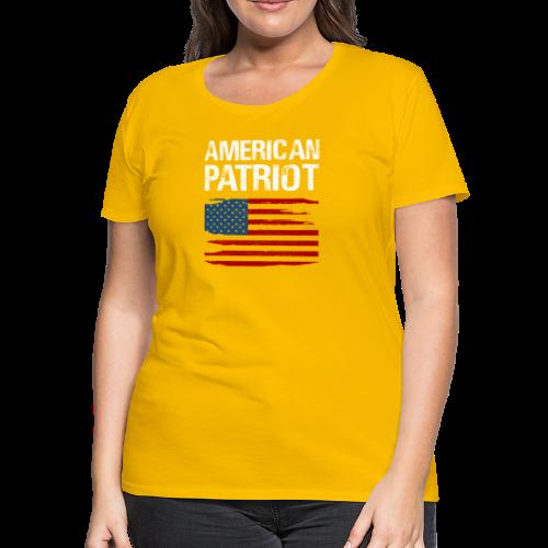 Patriotic American - Women's Premium T-Shirt