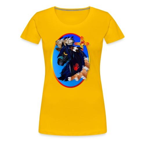 Black Stallion of Morning - Women's Premium T-Shirt