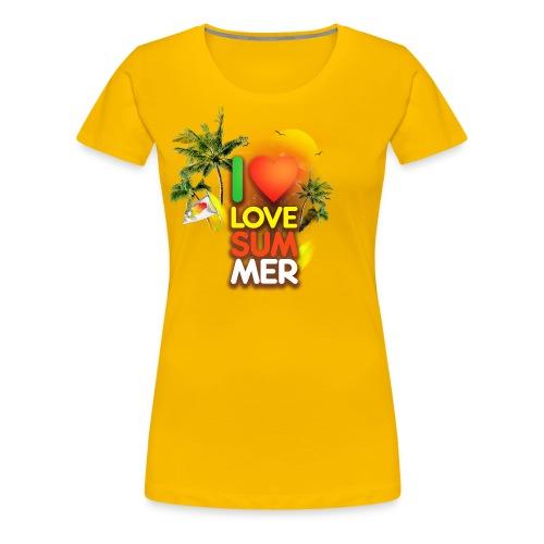I love summer - Women's Premium T-Shirt