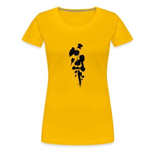 Silhouetted Plant - Women's Premium T-Shirt