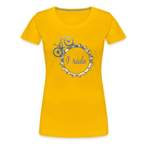 I ride - Women's Premium T-Shirt