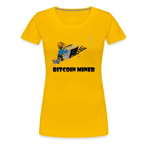 Funny bitcoin miner guy - Women's Premium T-Shirt