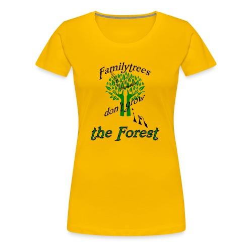 genealogy family tree forest funny birthday gift - Women's Premium T-Shirt