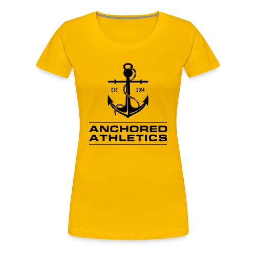 Anchored Athletics Vertical Black - Women's Premium T-Shirt