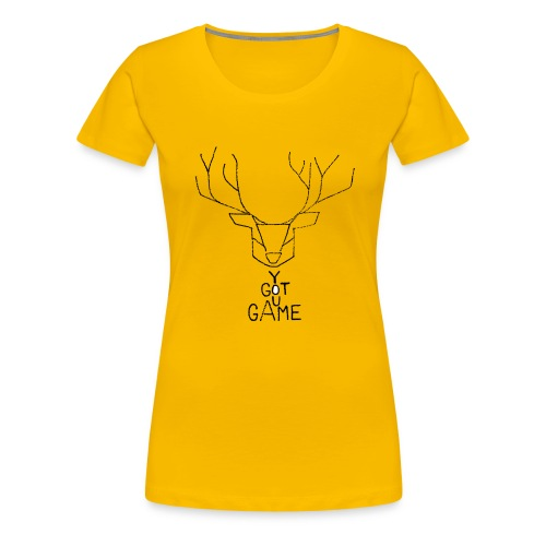 Stag GOT GAME - Women's Premium T-Shirt