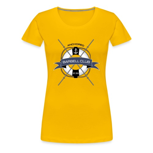 Anchored Barbell Club Colored - Women's Premium T-Shirt