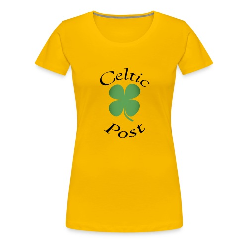 Celtic Post Shamrock - Women's Premium T-Shirt
