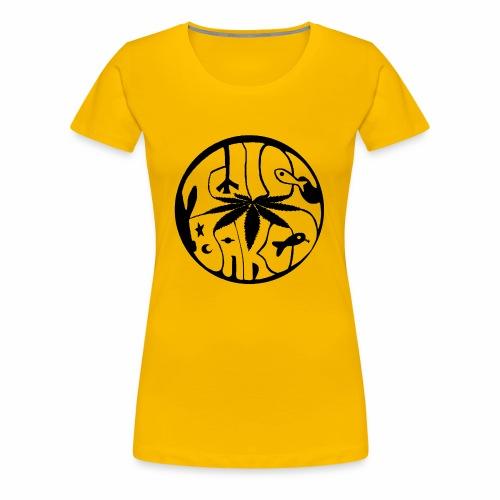 tWicEbakED logo, black circle - Women's Premium T-Shirt