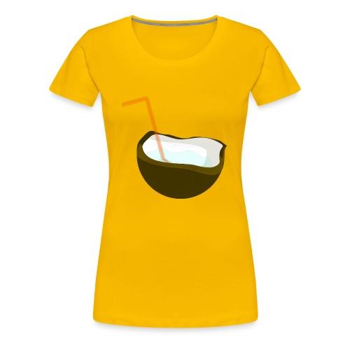 coconut water - Women's Premium T-Shirt