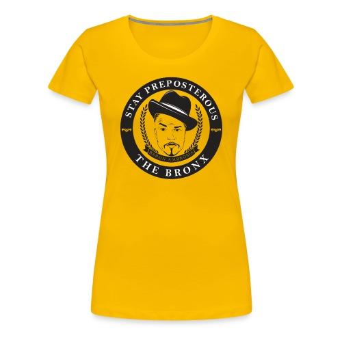 staypreposterousfile subtle white png - Women's Premium T-Shirt