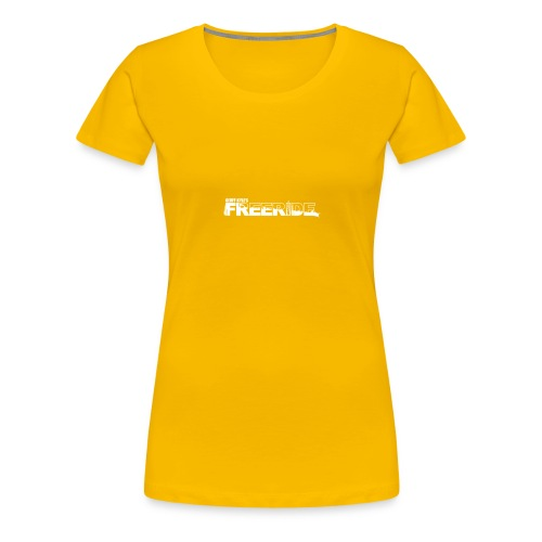 GK Freeride White Logo - Women's Premium T-Shirt