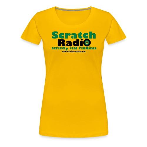 Scratch Radio URL - Women's Premium T-Shirt