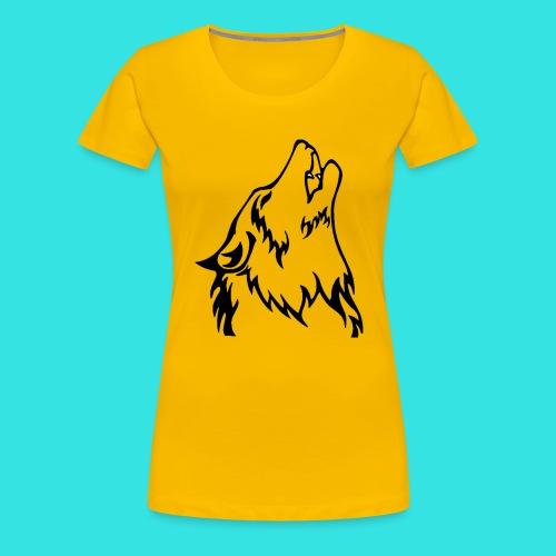 Wolf (back) - Women's Premium T-Shirt
