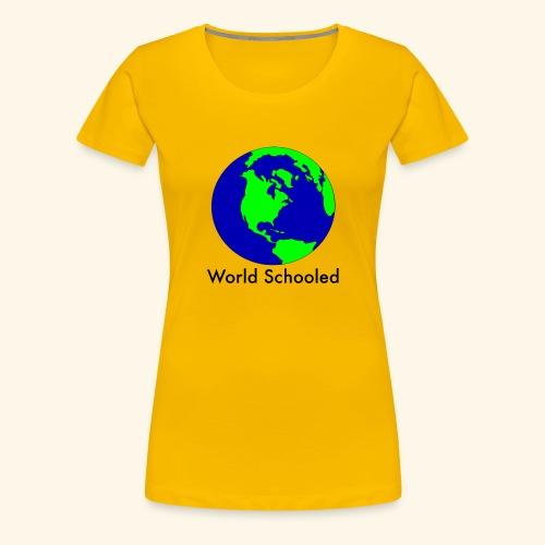 World Schooled - Women's Premium T-Shirt
