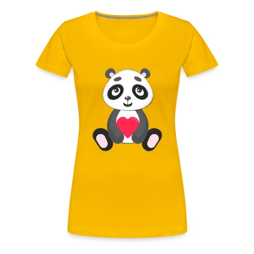 Sweetheart Panda - Women's Premium T-Shirt
