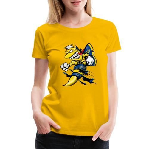 Cartoon Blue Angels F/A-18 Hornet - Women's Premium T-Shirt
