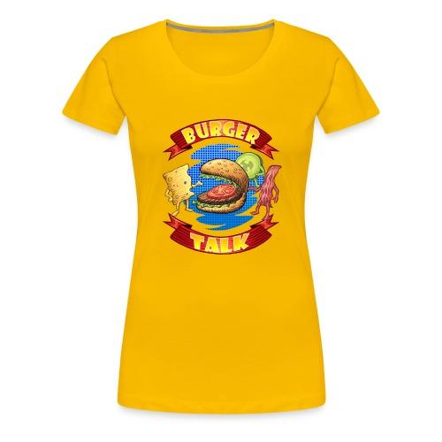 Burger Talk - Computer Resolution - Women's Premium T-Shirt