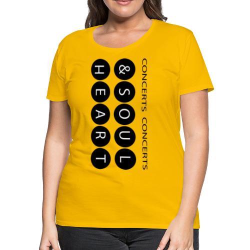 Heart & Soul concerts text design 2021 flip - Women's Premium T-Shirt