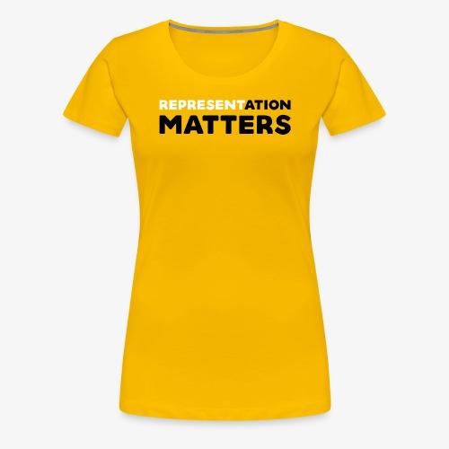 Representation Matters - White - Women's Premium T-Shirt