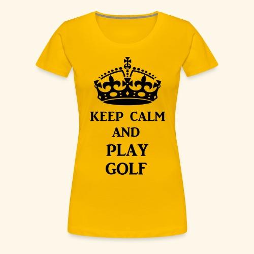 keep calm play golf blk - Women's Premium T-Shirt