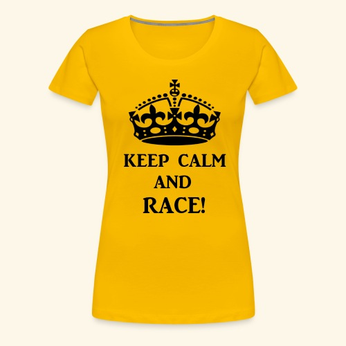 keepcalmraceblk - Women's Premium T-Shirt