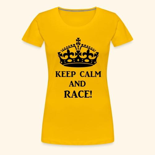 keepcalmraceblk - Women's Premium T-Shirt