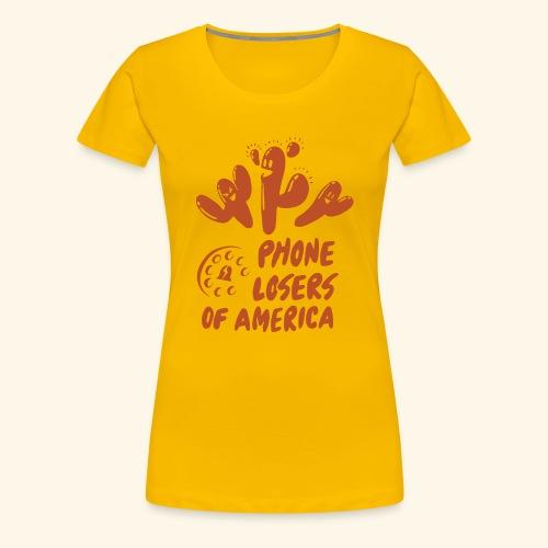 Yati M's Phone Losers Orange Logo 2 - Women's Premium T-Shirt